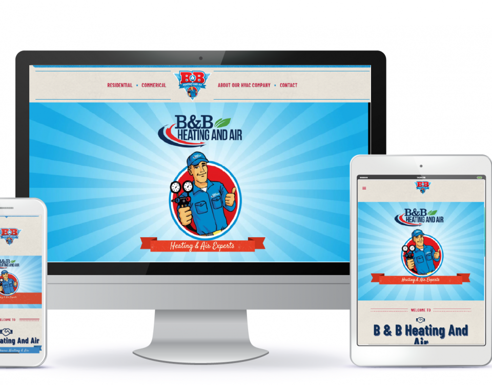 Birmingham web design by attraxios for B&B Heating and Air