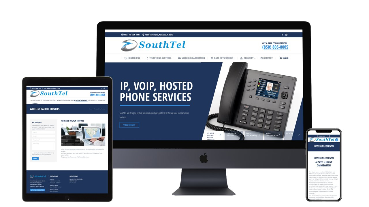 southtel communications website design pensacola